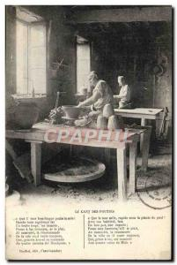 Old Postcard The cant of pouties Castelnaudary Potier