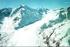 New Zealand Canterbuty Tasman Glacier Aerial View
