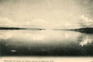 Canada - Yukon Territory, Midnight on Lake LeBarge enroute to Dawson