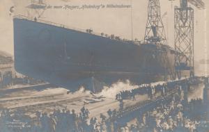 RP: Warship Launch Cruiser HINDENBURG Wilhelmshaven , Germany , 00-10s