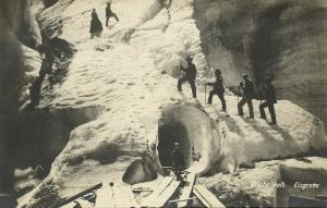 switzerland, GRINDELWALD, Eisgrotte, Ice Cave, Mountaineering (1923) RPPC
