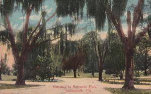 JACKSONVILLE, Florida, 1900-1910's; Entrance To Riverside Park