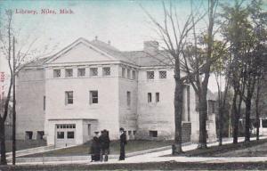Library, NILES, Michigan, PU-1912