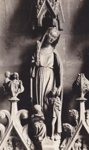 RP, Saint Statue , Cathedral , FREIBURGnL.B. , Germany , PU-1930