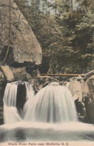 Black River Falls near Wolfville NS, Nova Scotia, Canada - pm 1907 - DB