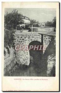 Old Postcard Djibouti Somalis The source of drinking water Hambouli TOP