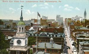 PA - Philadelphia, Bird's Eye View from Independence Hall