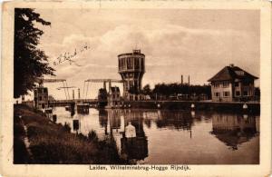 CPA Leiden- Wilhelminabrug-Hogge Rijndijk. NETHERLANDS (714092)