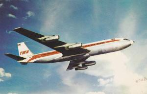 TWA 707 Jet airplane , 1970s
