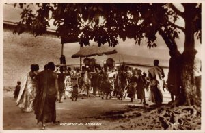 Ghana Gold Coast Ashanti drummers natives Postcard