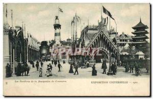 Old Postcard Lighthouse Pavilions of Commerce Navigation Expo 1900