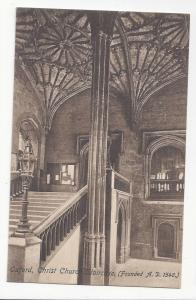 UK Oxford Christ Church Staircase Vtg Frith's Postcard Sepia