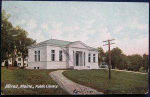 Public Library Alfred ME 1906 Hugh C Leighton 3225 UDB