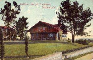 1909 RESIDENCE - MRS. JAS. A. GARFIELD, PASADENA, CAL.