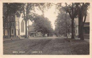 LPS85 Lebanon New Hampshire School Street Postcard RPPC