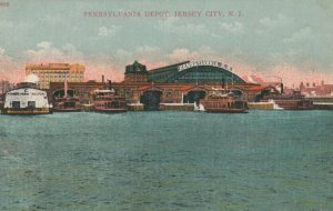 JERSEY CITY, New Jersey, 1900-10s; Pennsylvania Railroad Depot