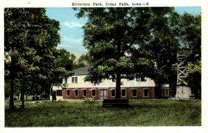 Cedar Falls, Iowa - A view of the Warren Building at Riverview Park - c1920