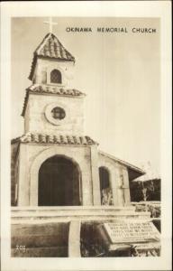 WWII Okinawa Japan Memorial Church Real Photo Postcard dcn