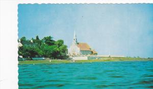 Eglise de St Jean , I'lle d'Orleans , Quebec , Canada , PU-1958