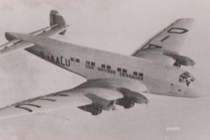 Junkers JU90 Plane Rare Plain Back Postcard Old Real Photo