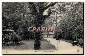 Troyes - Garden Chevreuse - Old Postcard