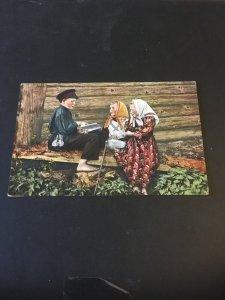 Vintage  Postcard - Granbergs Brefkort  Russian Children
