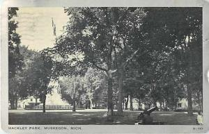 W/B Hackley Park Muskegon Michigan MI 1937