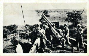 Military Dutch postcard Vurend stuk RPPC 3.30