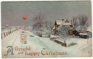 Circa 1908 Hold to Light postcard A Bright and Happy Christmas