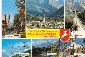 Oberstdorf Allgaeu, Freibergsee Fellhornbahn Almabtrieb Kirchstrasse Einoedsbach