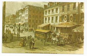 Streetcar Trolley Postcard Baltimore Museum First Horsecar
