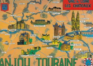 ANJOU TOURAINE , France , 1960-70s ; Map