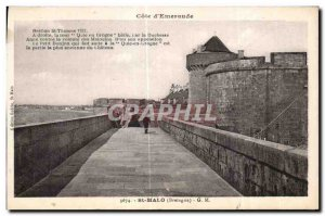 Postcard Old Saint Malo (Brittany)