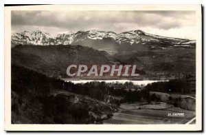 Postcard Old Lake Chambon and the Monts Dore