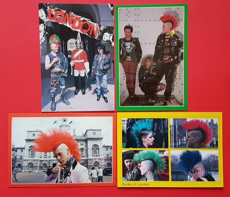 NEW Set of 4 Punk Rocker Postcards, Punks of London, Matthew Belgrano
