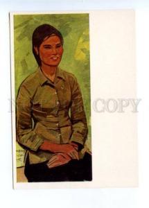 141685 Vietnam War Nguyen Thi Tang by SAMSONOV Old postcard