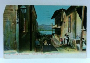 Santiago De Cuba View Of Harbor Vintage Postcard