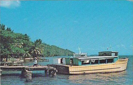 Jamaica Samana Harbor View Fishing Boats