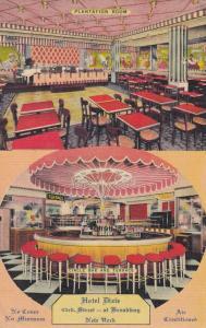 NEW YORK CITY, PU-1945; Hotel Dixie, Plantation Room, Circle Bar & Terrace
