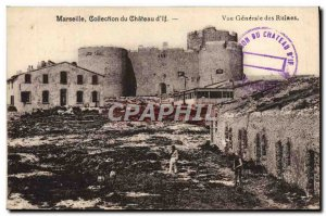 Old Postcard Collection Marseille Du Chateau d & # 39If