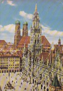 Germany Muenchen Rathaus Mit Frauenkirche