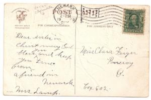 Ellen Clapsaddle Wishbones Mistletoe Holly 1908 Vintage IAP Christmas Postcard