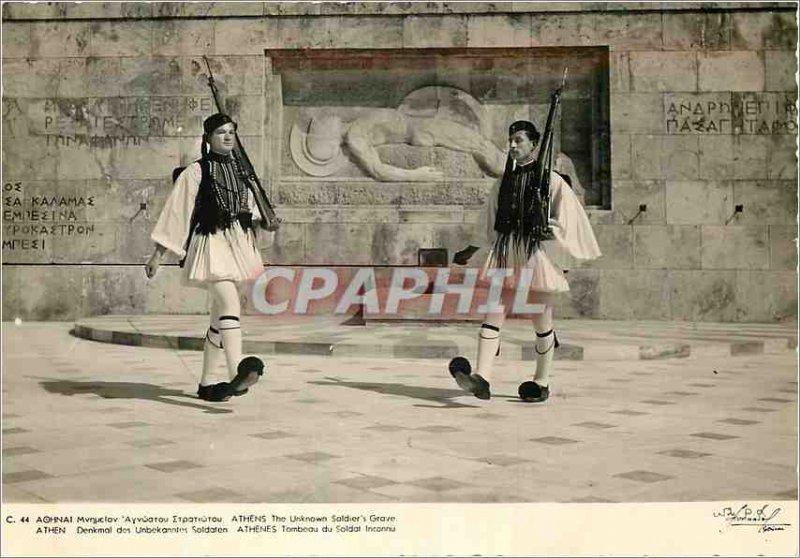 Modern Postcard Athen Denkmal of Unbekanntes Militaria Soldaten