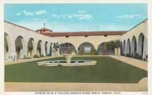POMONA , California , 10-20s; Stables on W.K. Kellogg Arabian Horse Ranch