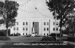 Grafton North Dakota~Walsh County Courthouse 1940s Postcard RPPC