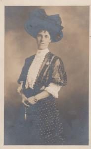 Cross Dresser Transvestite Portrait Antique LGBT Postcard