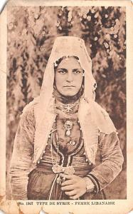 Femme Libanaise, Syria Postcard, Syrie Turquie, Postale, Universelle, Carte T...