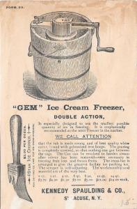 Trade Card American Machine Co Phila Ice Cream Freezers