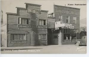 DUBOIS, WYOMING Rustic Pine Tavern RPPC REAL PHOTO POSTCARD