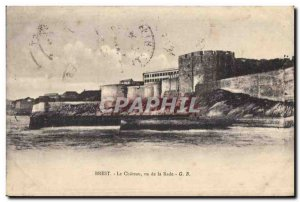 Postcard Old Brest Le Chateau seen from La Rade